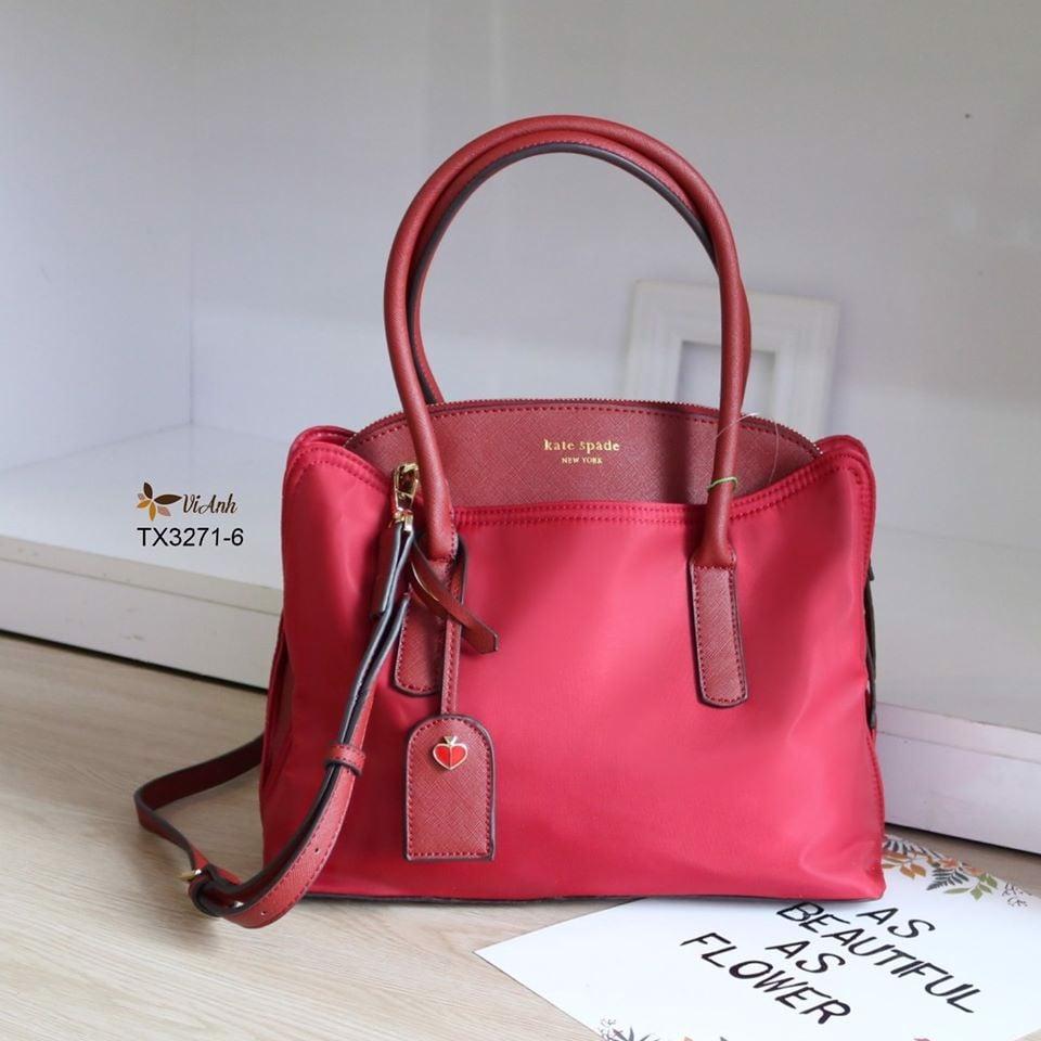 Túi xuất khẩu thời trang công sở màu đỏ trơn