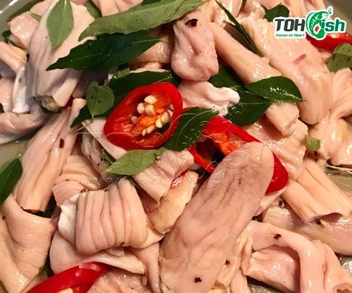 bao tử nấu cà ri xanh