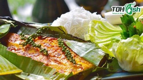 món phi lê cá lóc nướng lá chuối