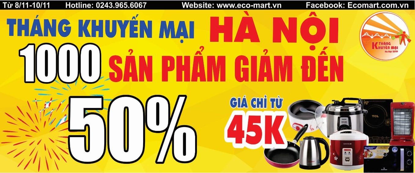 Tháng khuyến mại Hà Nội - 11.000 sản phẩm Giảm giá kịch sàn lên đến 50%