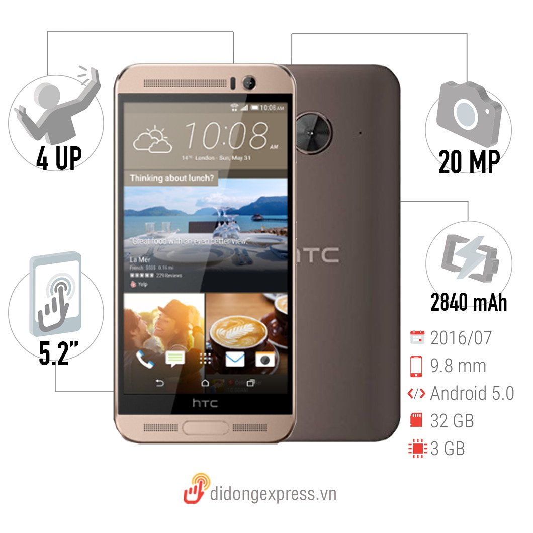 HTC One Me Dual Sim Rose Gold