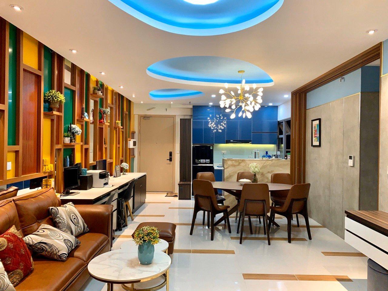 Hoàn thiện nội thất căn hộ giao thô Palm Heights 105m2