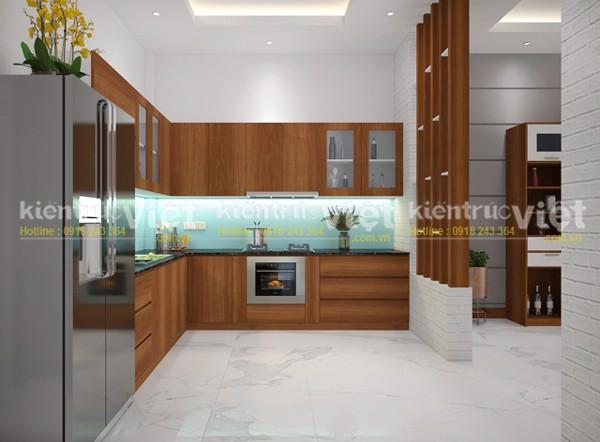 nội thất phòng bếp nhà phố