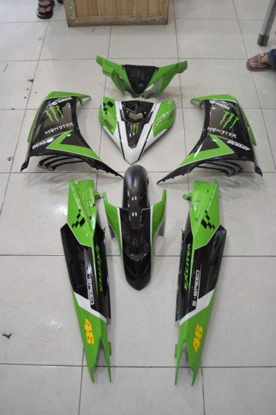 exciter 135 monster xanh la