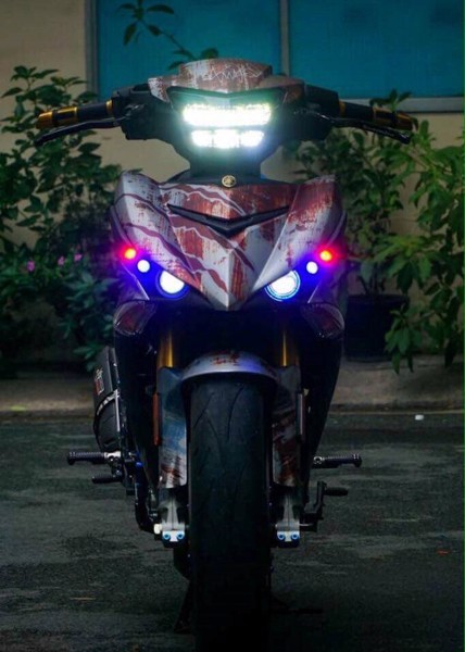 led pha 2 tang moto art exciter 150