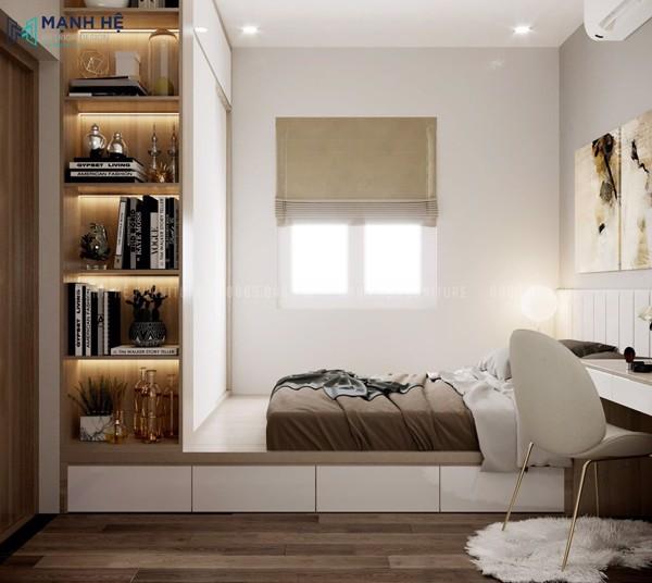 Nội thất phòng ngủ master sang trọng