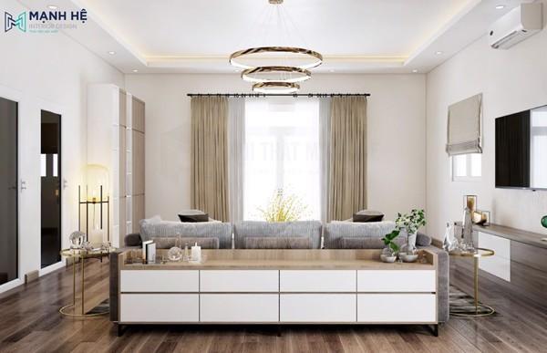 Tủ kệ trang trí phòng khách hiện đại