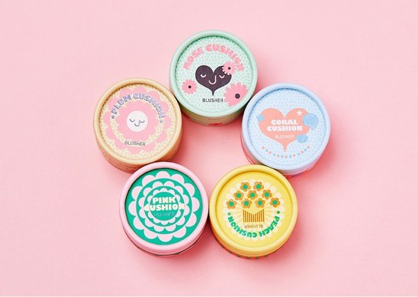 Phấn Má Hồng The Face Shop Lovely MEEX Cushion Blusher 5g Coral Cushion 02