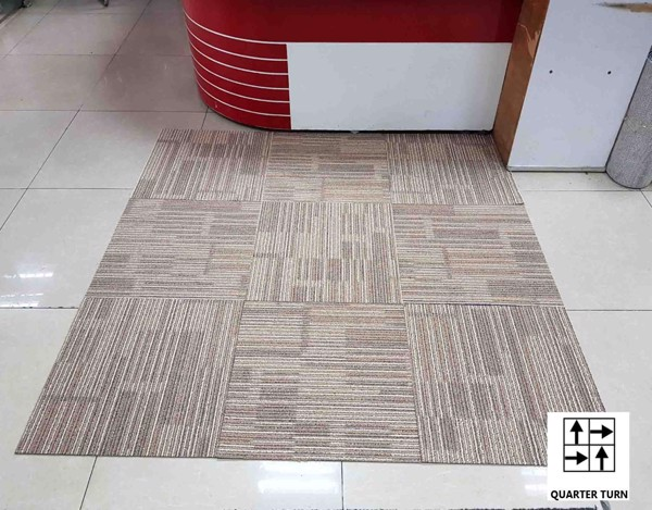 carpet tile with quarter turn style