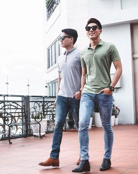 3 cách phối đồ với Quần jeans nam cho dịp Tết Nguyên Đán 3