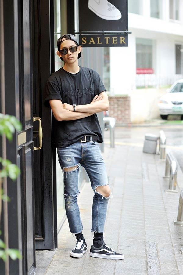 4 cách phối đồ cùng quần jeans chất lừ nam tính 3