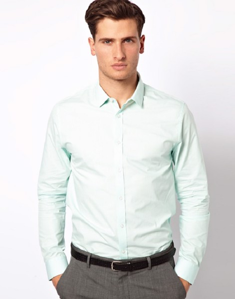 Mẫu áo sơ mi nam màu pastel
