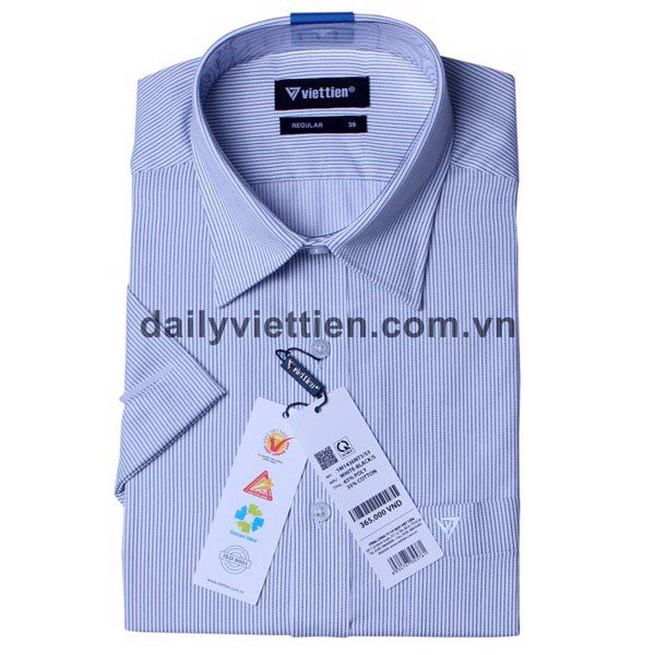 Mẫu áo sơ mi kẻ sọc nhỏ tại cửa hàng Việt Tiến