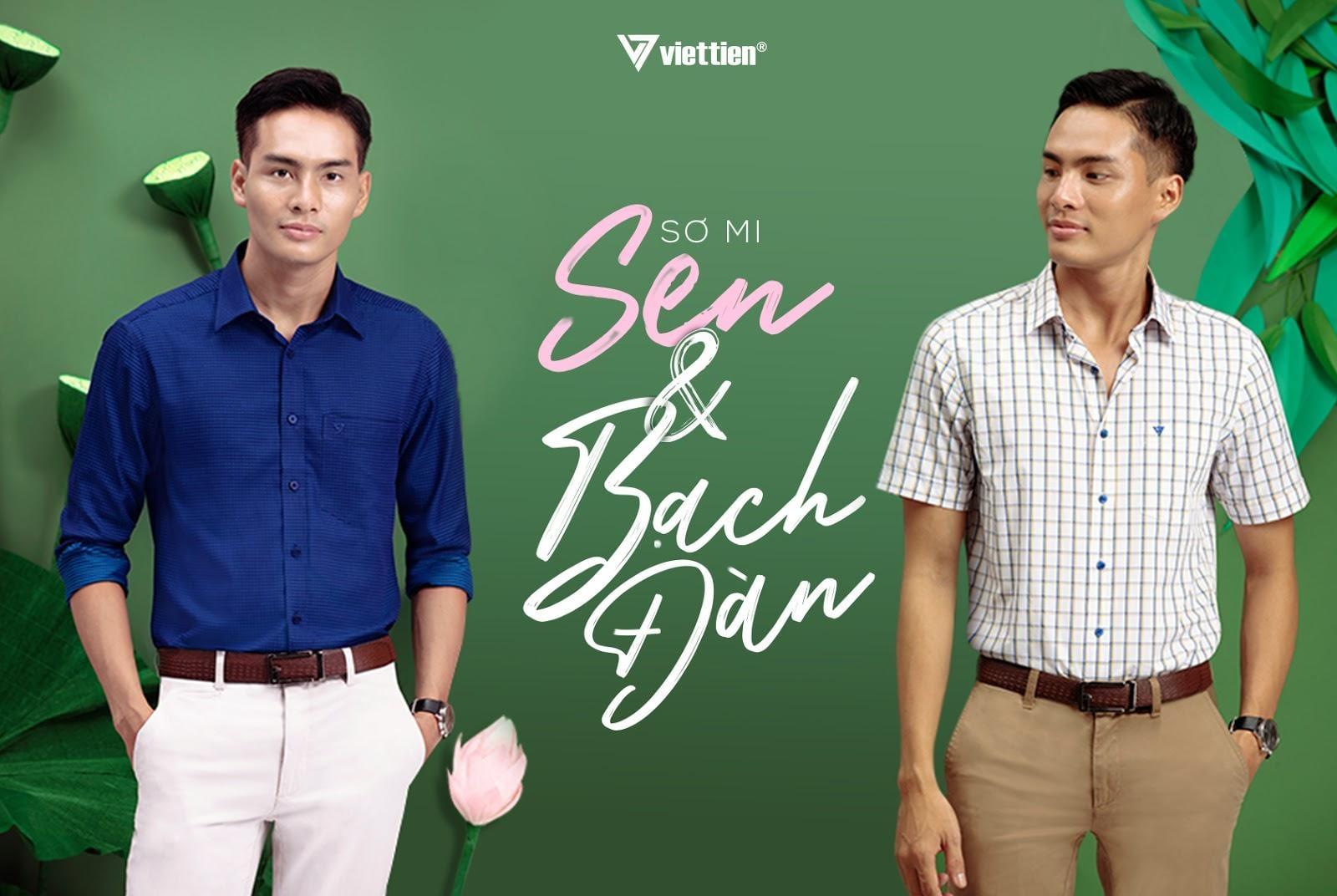 Áo sơ mi tay ngắn Việt Tiến 2