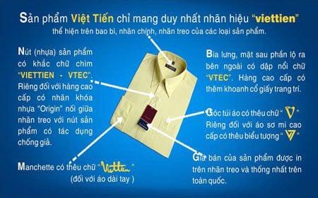 Đặc điểm của áo sơ mi Việt Tiến thật