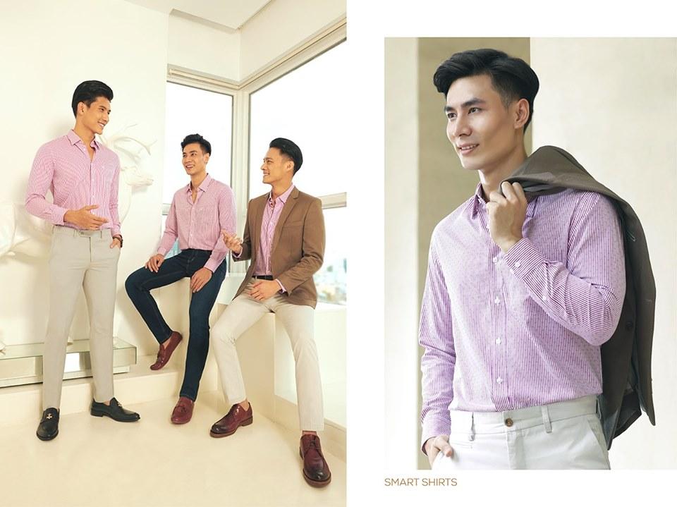 Bộ sưu tập áo sơ mi Việt Tiến Slimfit cho người trẻ 2021 6