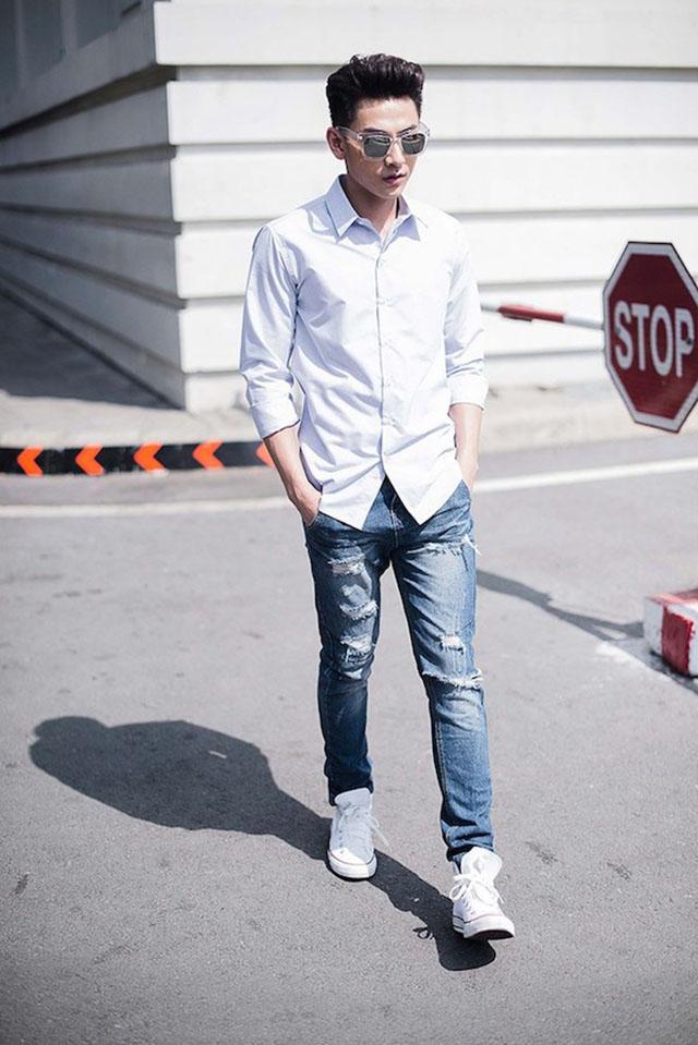 Đa phong cách với áo sơ mi trắng Việt Tiến 10