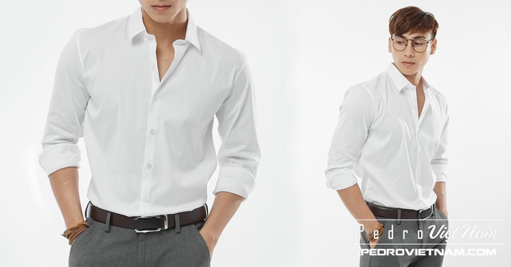 Đa phong cách với áo sơ mi trắng Việt Tiến 1