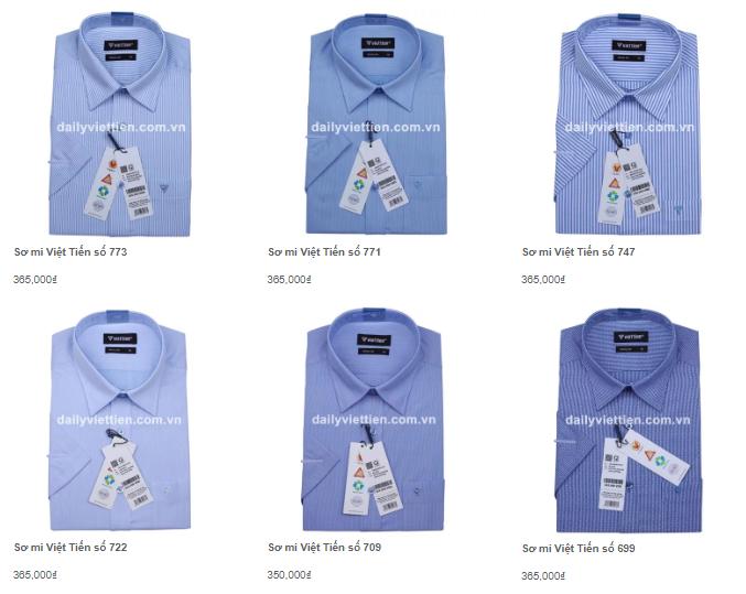 Giá áo sơ mi nam Việt Tiến mới nhất năm 2020 2