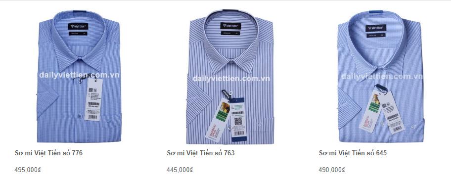Giá áo sơ mi Việt Tiến quý 1 năm 2020 11