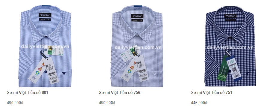 Giá áo sơ mi Việt Tiến quý 1 năm 2020 14