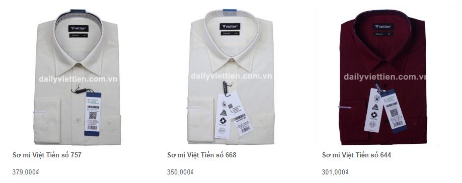 Giá áo sơ mi Việt Tiến quý 1 năm 2020 20