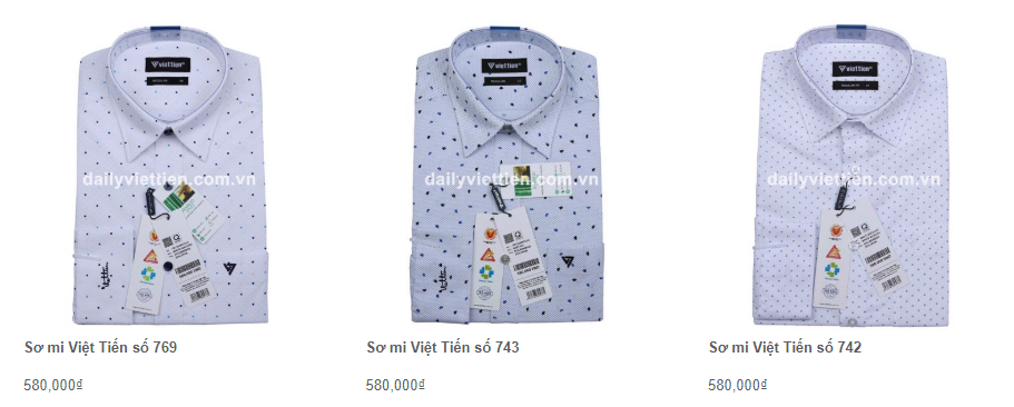 Giá áo sơ mi Việt Tiến quý 1 năm 2020 40