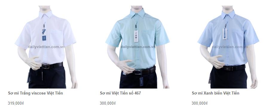 Giá áo sơ mi Việt Tiến quý 1 năm 2020 4