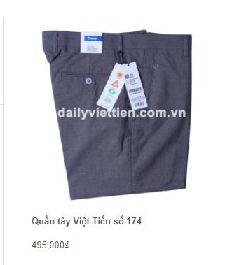 Giá quần tây Việt Tiến mới nhất 2021 4