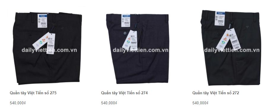 Giá quần tây Việt Tiến mới nhất 2021 5