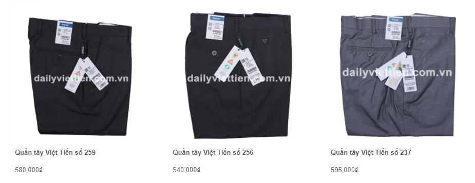 Giá quần tây Việt Tiến mới nhất 2021 8