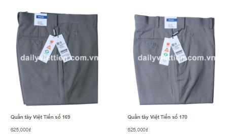 Giá quần tây nam Việt Tiến mới nhất 2020 7