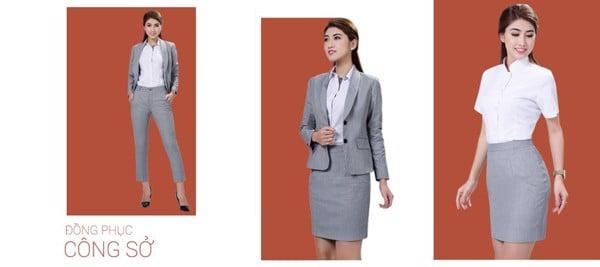 Đồng phục công sở của Việt Tiến luôn sở hữu một phong cách hiện đại