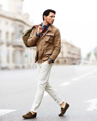 Phối đồ với quần jeans trắng 4