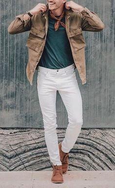 Phối đồ với quần jeans trắng 5