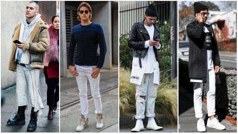 Phối đồ với quần jeans trắng 7