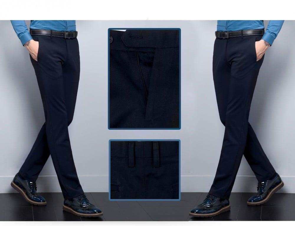 Quần tây xanh đen Oversize 2