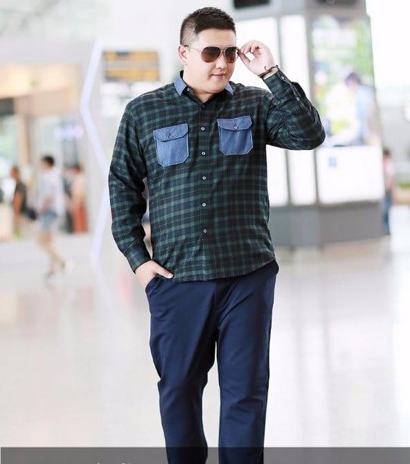 Quần tây xanh Việt Tiến Big Oversize cho nam từ 70-100kg 1