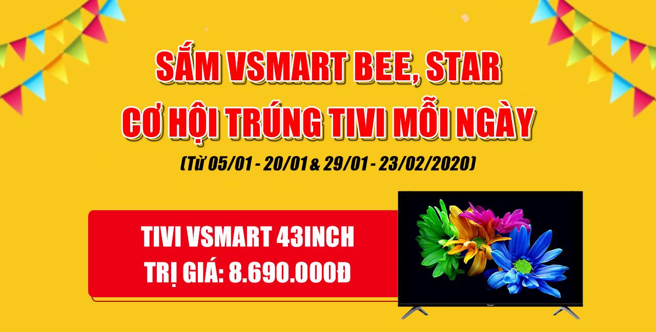 Mua điện thoại Vsmart trúng tivi Vsmart mỗi ngày