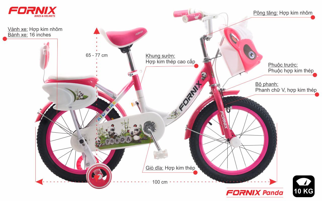 thông tin chi tiết xe đạp fornix panda