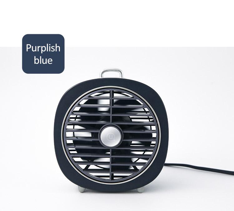 Quạt bàn mini có đèn USAMS US-ZB065 Desktop mini Lamp Fan (Màu xám Gray)