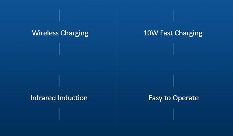 Đế sạc không dây tự động cho xe hơi với cảm biến hồng ngoại USAMS US-CD94