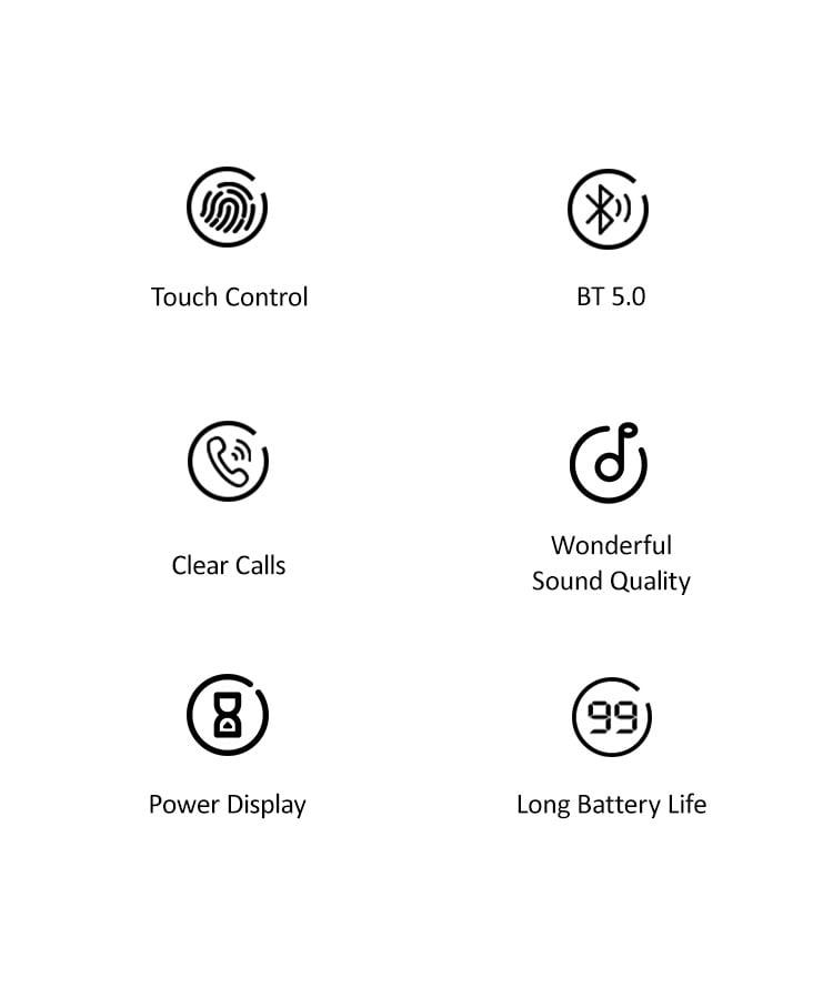 Tai nghe không dây Wireless USAMS US-YJ001 Digital Display Wireless Earphone - YJ Series