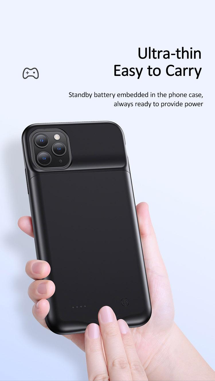 Ốp lưng kèm pin sạc dự phòng 4500mAh cho iPhone 11/iPhone 11 Pro/ iPhone 11 Pro Max USAMS US-CD110/US-CD111/ US-CD112