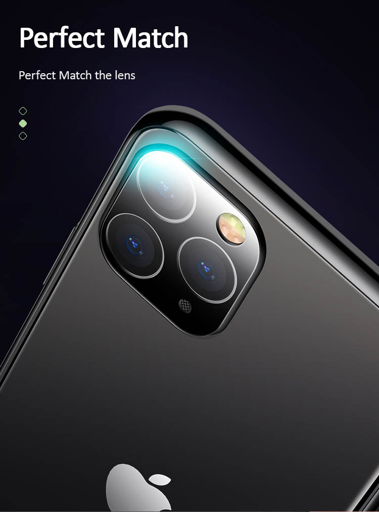 Kính cường lực camera iPhone 11/ iPhone 11 Pro/ iPhone 11 Prom Max USAMS