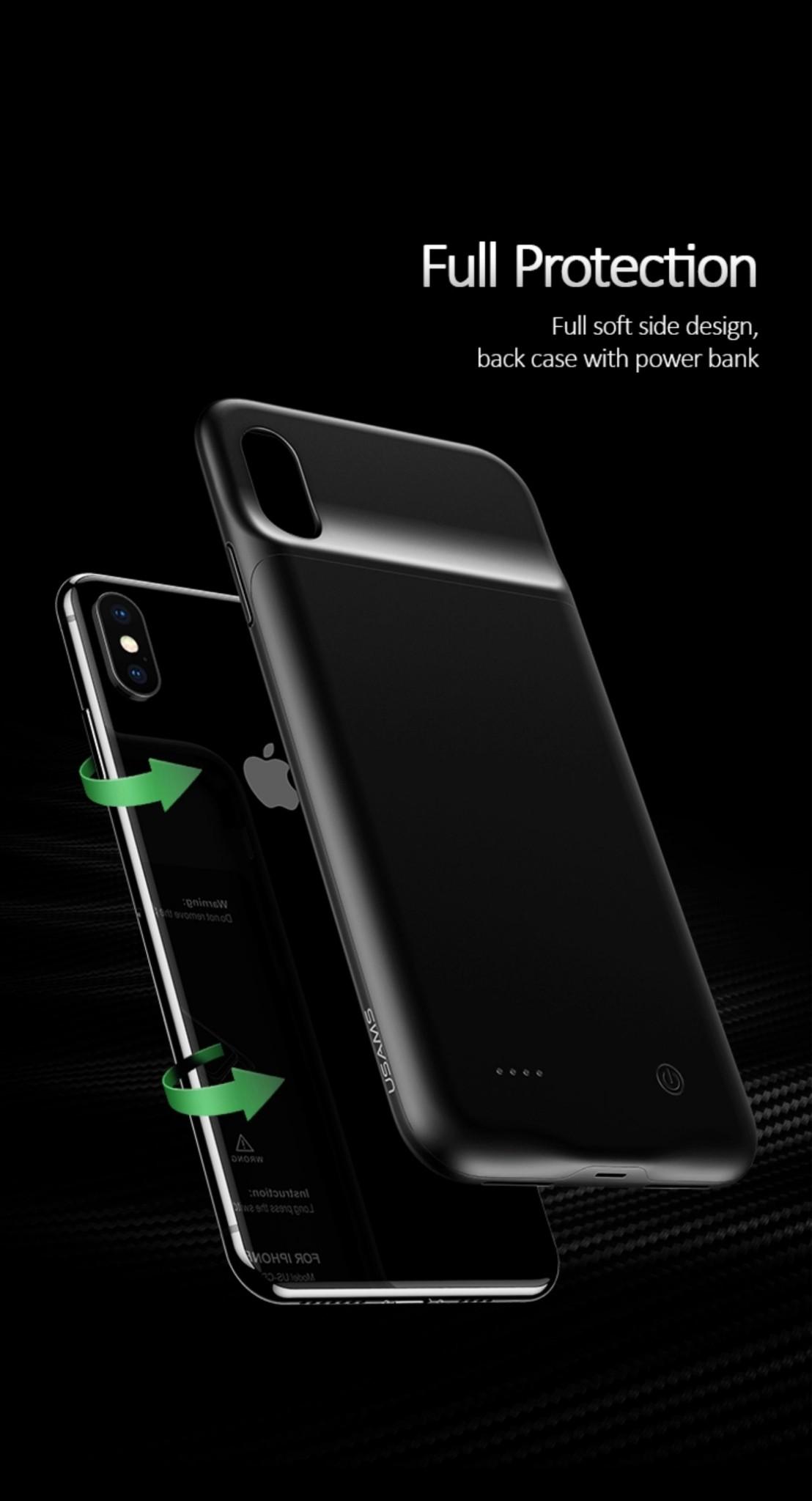 Ốp lưng tích hợp pin sạc dự phòng 4000mAh cho iPhone XR USAMS US-CD68
