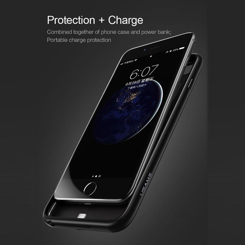 Ốp sạc tích hợp pin sạc dự phòng 4200mAh trang bị 10 cấp bảo vệ cho iPhone6/7/8 Plus dòng Millie US-CD26 mua ở đâu giá tốt