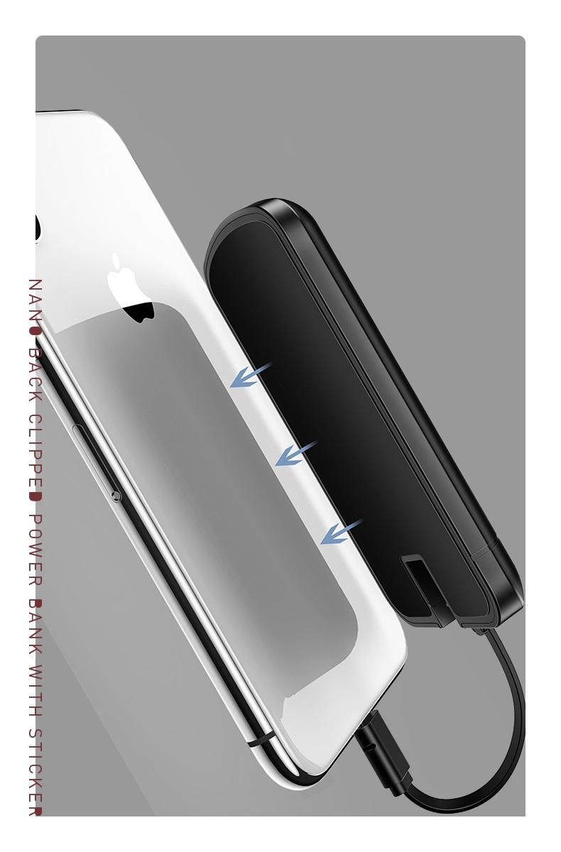 Pin sạc dự phòng 4000mAh tích hợp miếng dán Nano hít sau lưng điện thoại USAMS US-CD54 mua ở đâu giá tốt