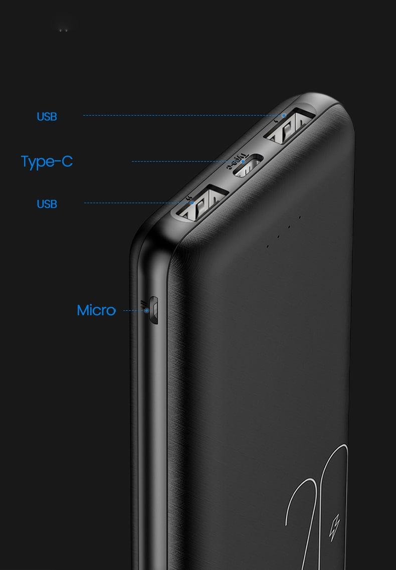 Pin sạc dự phòng có 2 cổng USB USAMS US-CD80 PB19 Dual USB Power Bank 20000mAh mua ở đâu giá tốt.