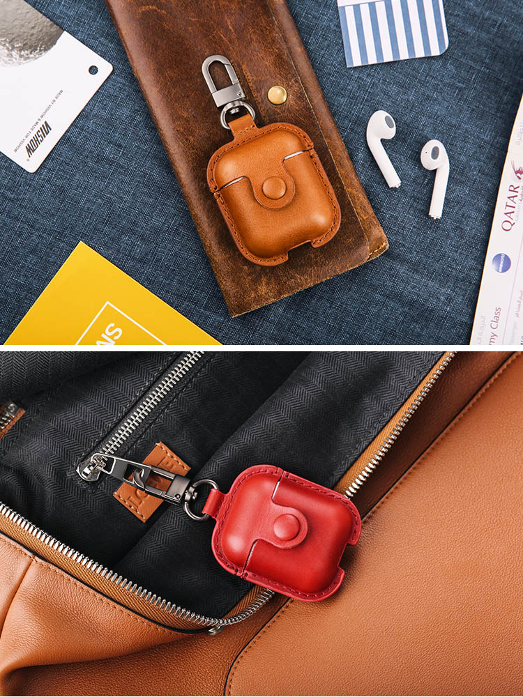 US-BH475 Leather Case For AirPods
